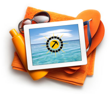 stock-photo-20325373-tablet-with-beach-accessories
